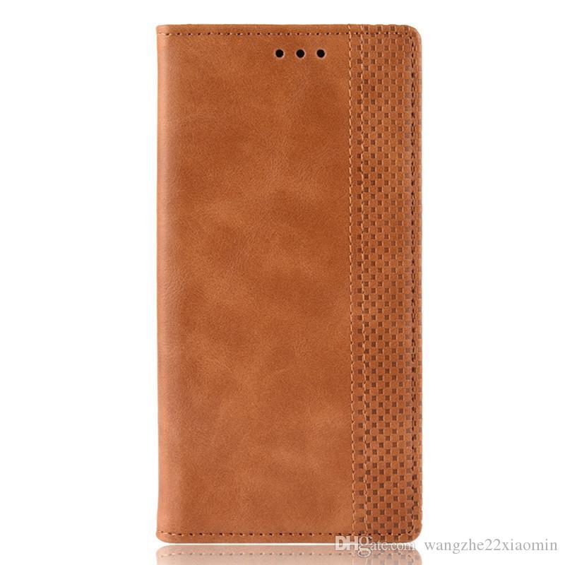 جلدية عالية الجودة المغناطيسي غطاء الهاتف للحصول على سامسونج غالاكسي S20 بلاس الترا لLG K20 بطاقة مع فتحة فليب لمدة 11 فون