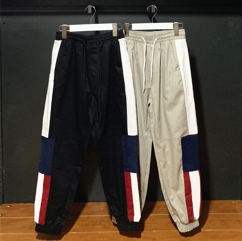 Pantalones de moda para hombre Track Pant Joggers con Hombres pantalón Joggers Trouse mujeres de los hombres del suéter de las bragas de Deporte ZWN97161