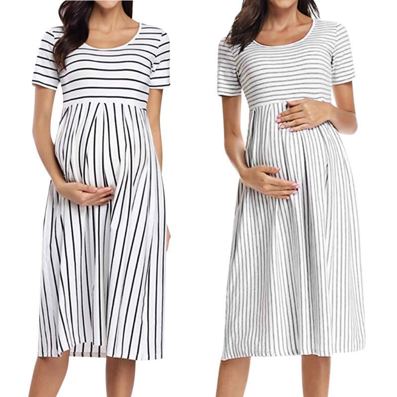 2021 High Quality Women Pregnant Dress Maternity Clothes Nursing Solid Breastfeeding Summer Fashion Maternity Dress For Photo New From Benedicty 21 42 Dhgate Com