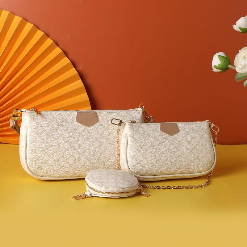 النساء المفضلة الاكسسوارات pochette متعددة حقيبة يد حقيبة رسول حقيبة الكتف زهرة السيدات المحافظ 3 جهاز كمبيوتر شخصى محفظة أكياس CROSSBODY