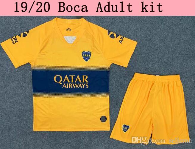 TOP Thailand 2019 20 Boca Mann Trikot Kit 2019 abila CARLITOS Hauptfußballhemd TEVEZ Boca Juniors camisetas de futbol Adult Kit