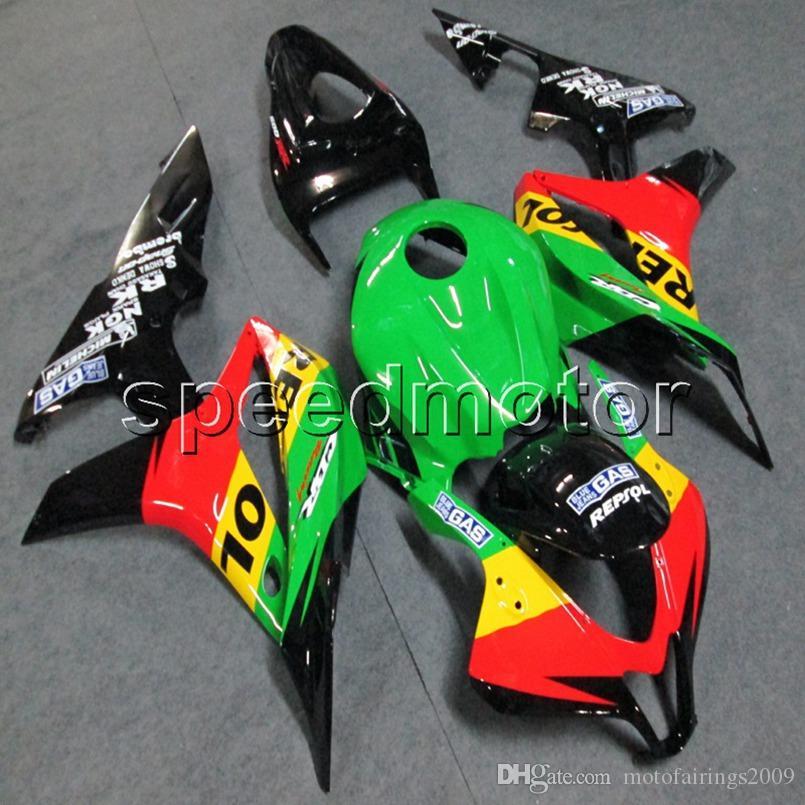 23colors + Botls Injection mould красный зеленый repsol мотоцикл Корпус обтекателя для моторных панелей ABS HONDA CBR600RR 2007 2008 F5 07-08