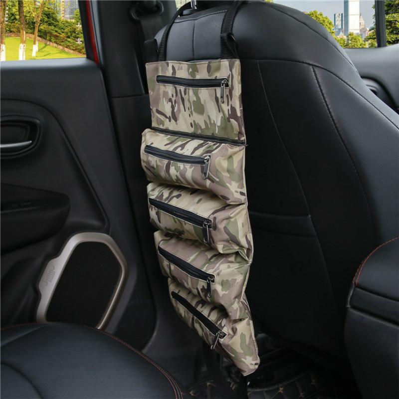 Car Trunk Organizer Adjustable Backseat Storage Bag Army Tactical Tool Handbag Outdoor Automobile Seat Back Organizers