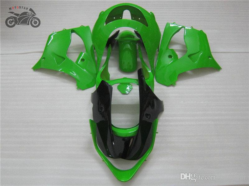 1999 1998 kaporta grenaj seti ZX9R ZX 9R Kawasaki Ninja ZX9R 98 99 yeşil siyah ABS plastik kaporta özelleştirme motosiklet