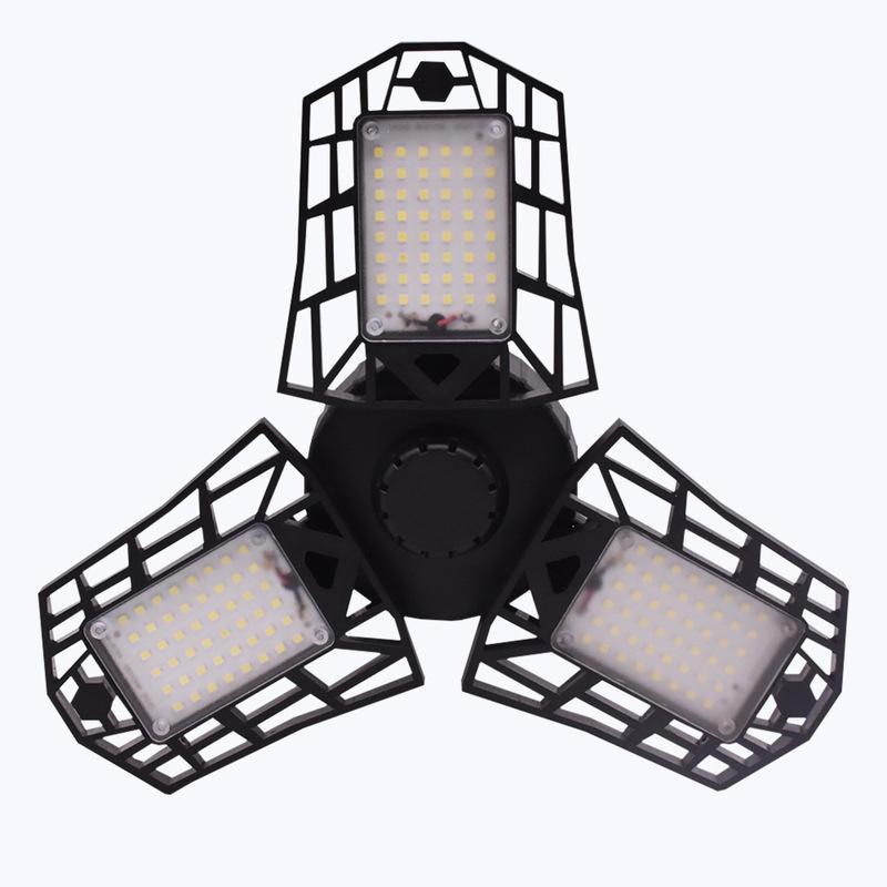 LED 주차장 조명 접이식 E27 / B22 등 변형 각도 조절 높은 베이 빛 산업 LED 주차장 램프 차고 워크샵