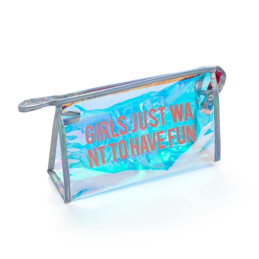 1 stück Gliiter Fashion Laser Make-Up Taschen Tragbare Hängende Reise Kulturbeutel für Frauen Schminktasche Kosmetiktasche Bad Dusche RRA1887