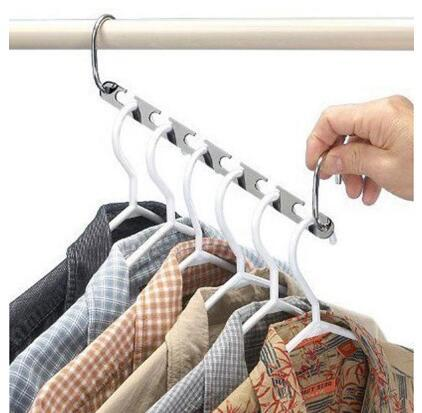 Magic Clothes Hangers Hanging Chain Metal Stainless Steel Cloth Closet Hanger Shirts Tidy Save Space Organizer Hangers for Clothes