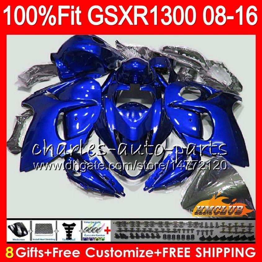 Injection for Suzuki GSXR1300 Hayabusa 08 09 10 2008 2009 2010 25HC.141 GSXR 1300 Pearl Blue GSXR-1300 11 12 13 2011 2012 2013 OEM FLATING