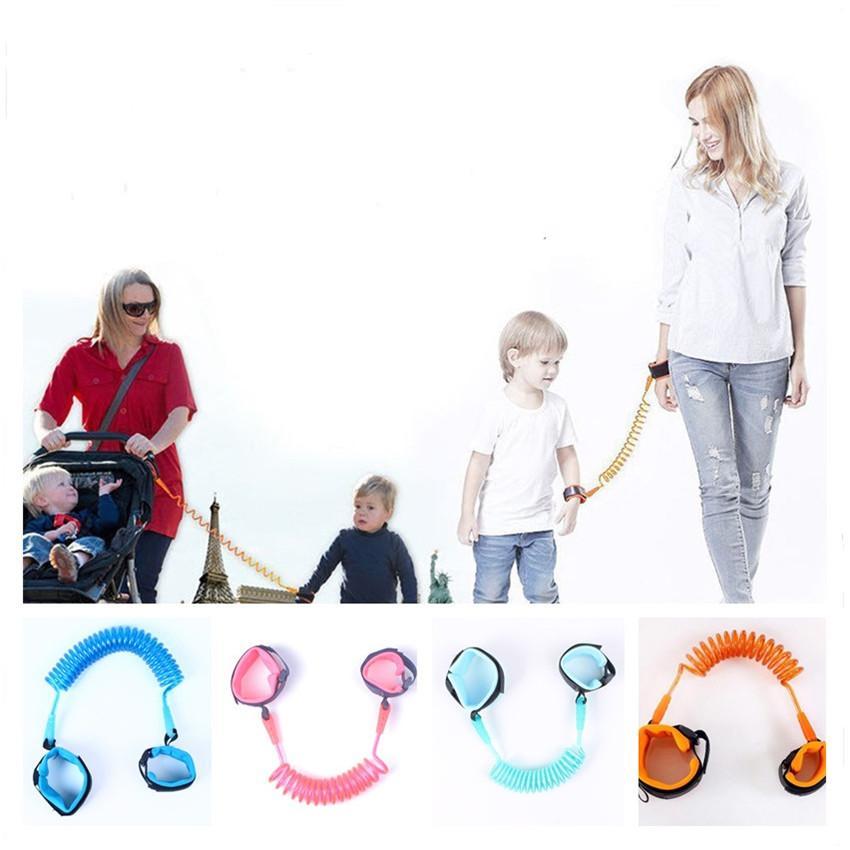 1.5M Crianças Anti Perdido alça de segurança para crianças Pulseira de Pulso Fazer a ligação da criança Harness Leash Strap Pulseiras pai do bebê de pulso A122501 Leash Walking