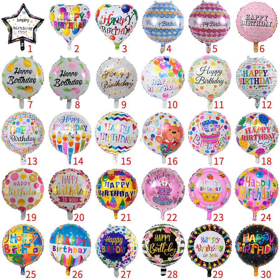 18 Inch partido inflável aniversário ballons decorações bolha filme de alumínio balão crianças felizes balões de aniversário brinquedos suprimentos C81