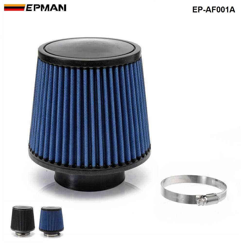 """epman- 에어 필터 3 """"76mm 공기 흡입 필터 높이 높은 흐름 콘 콜드 공기 흡입 성능 EP-AF001A"""