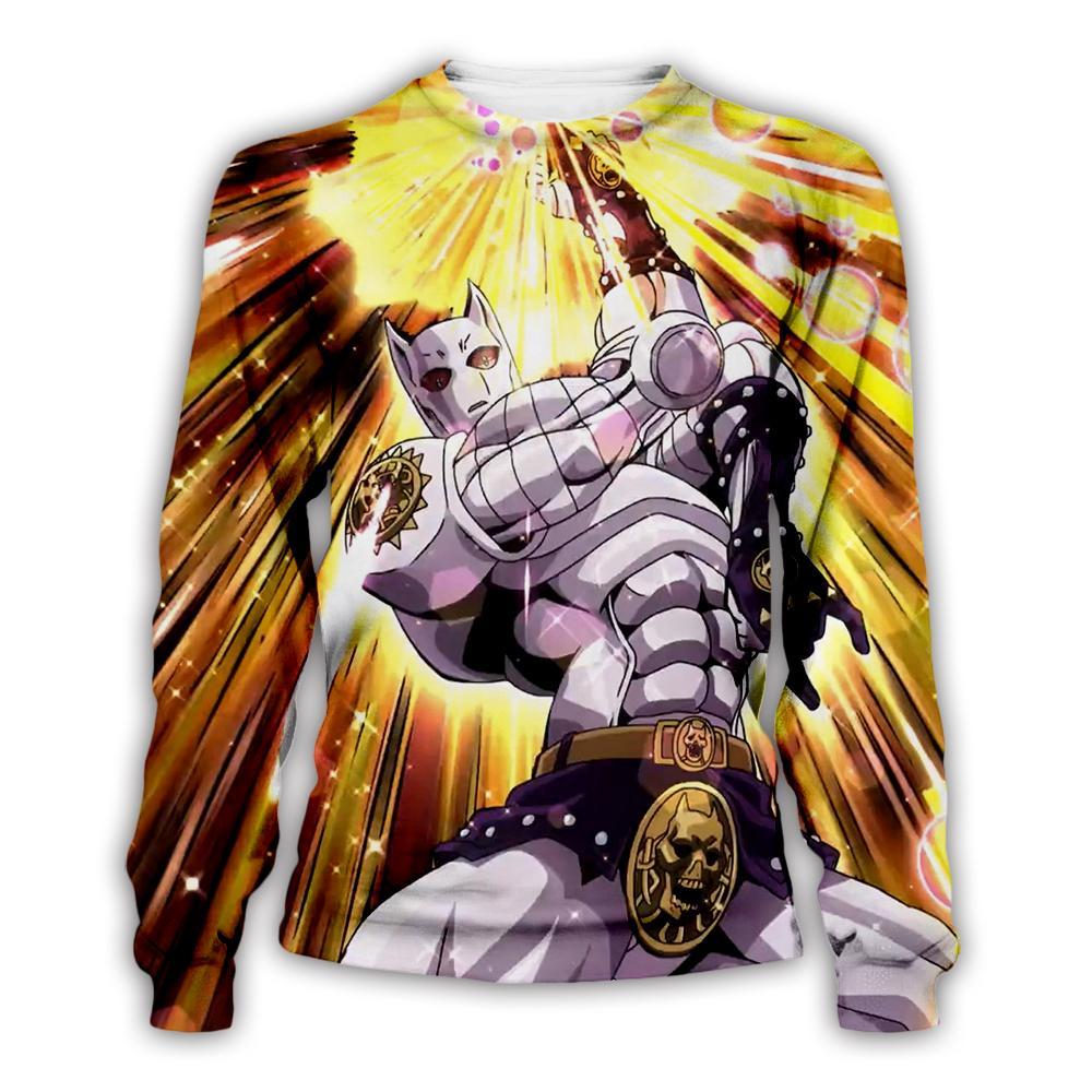 New Anime Jojolion JoJo's Bizarre Adventure 3D Print Hoodies Sweatshirts short sleeve shirts and Joggers Monster harajuku Jacket