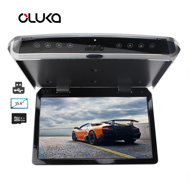 15.6 inches LED Digital Screen Car Roof Mounted Display Monitor Car Ceiling / Flip Down / Overhead Monitor for and Bus