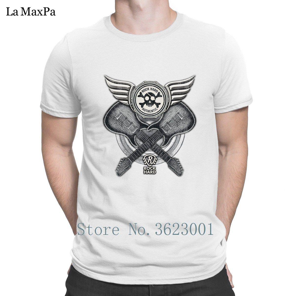 Erkek Gents Rh İkiz Gitar Tişörtler Man Süper Funky Kısa Kollu Tee Gömlek Sevimli İçin Son Cool T Gömlek