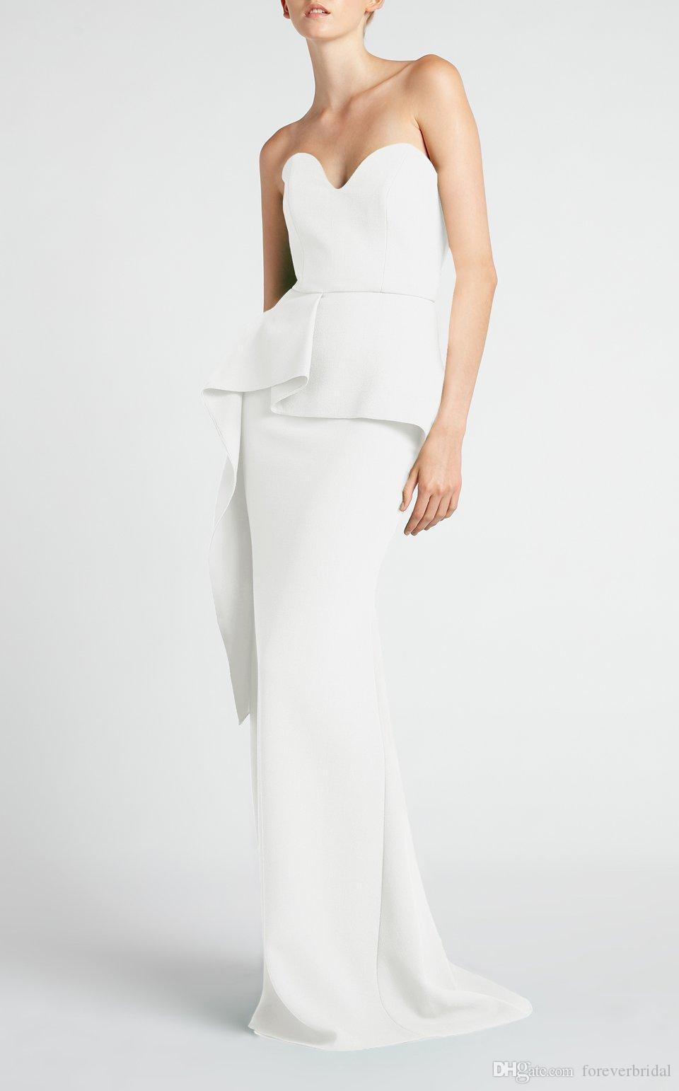 Großhandel Einzigartiges Design Elegante Weiße Abendkleider Liebsten Slim  Fit Mermaid Prom Dresses Bodenlangen Mutter Der Braut Kleider Von
