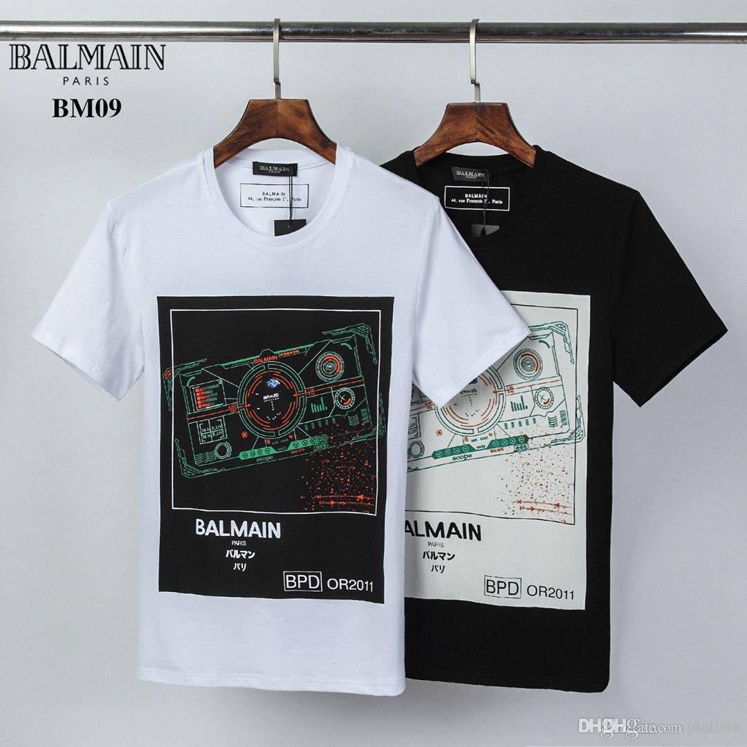 2020ss moda de alta calidad de la marca camiseta de algodón del verano del diseñador camiseta de los hombres y mujeres de moda negro y blanco u16 transporte gratuito al por mayor