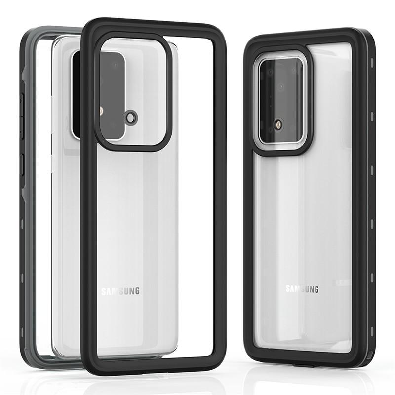 Para Samsung S20 Carcasa estanca a prueba de agua, construido en Caso protector de la pantalla 360 ° cuerpo completo de protección a prueba de golpes Cubierta para Samsung S20 Ultra