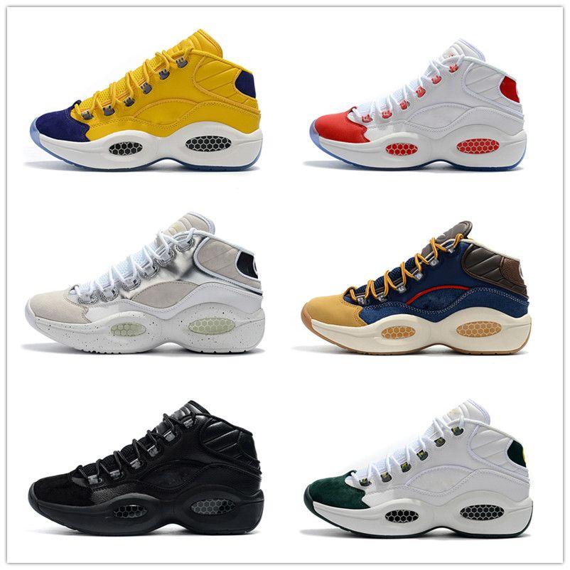 Mediados Q1 Baloncesto respuesta 1s zoom correr Diseñador Allen Iverson Cuestión de lujo zapatos Elite Sport para hombre zapatos deportivos zapatos zapatillas de deporte EU40-45