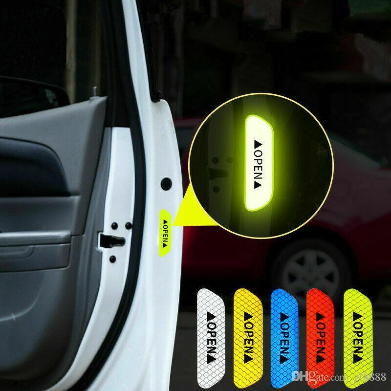 العالمية السيارات باب السيارة المفتوح ملصق الشريط عاكس السلامة تحذير مائي 4 قطع