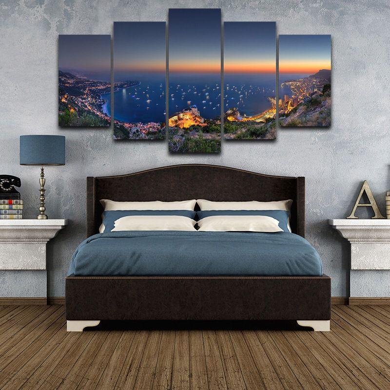 Fabrika Doğrudan HD Sanatçı Ev Dekorasyon Mikro Tuval Monako Gece Boyama Sprey