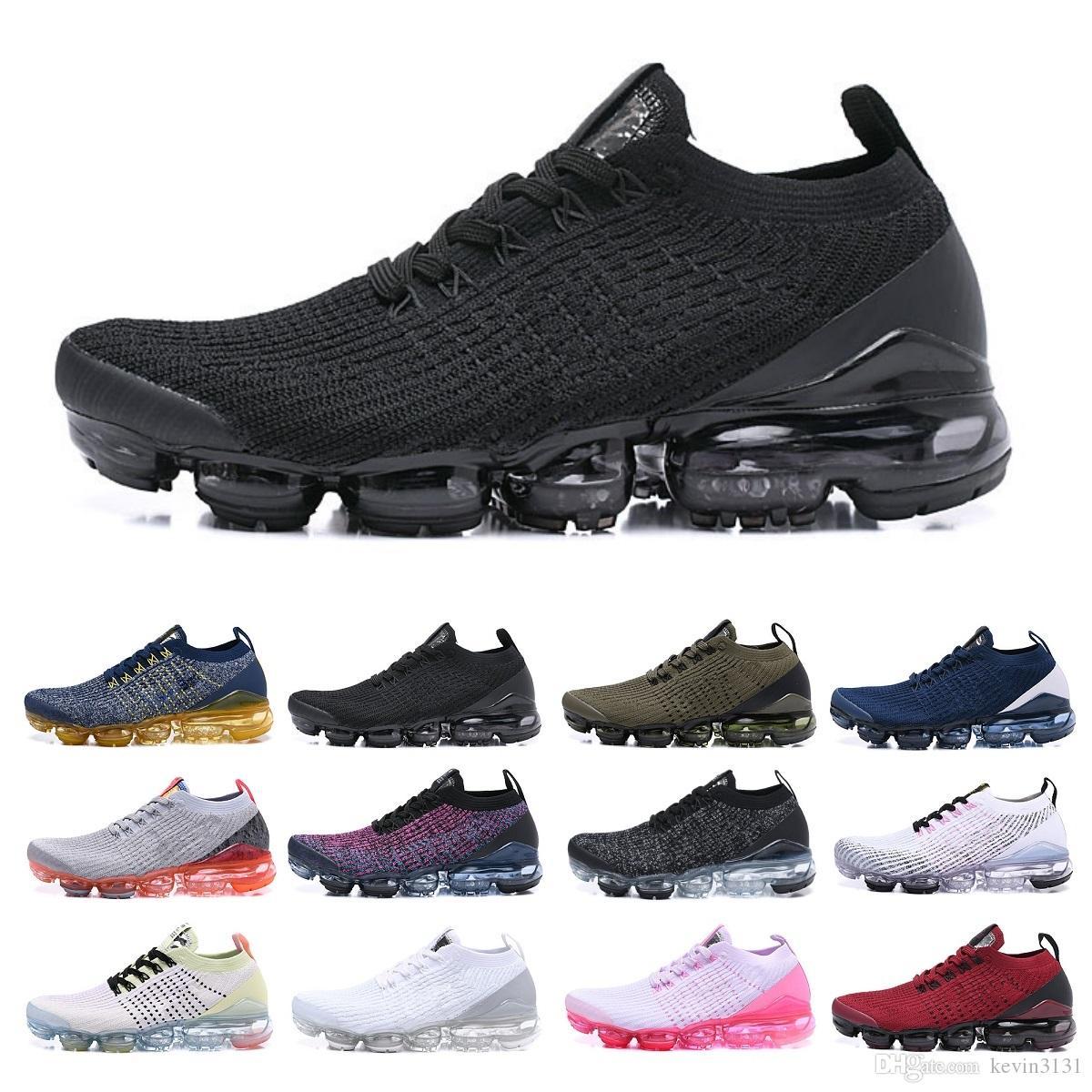 2018 3.0 Erkek Tasarımcı Koşu Ayakkabı Erkekler Rasgele Hava Yastık Üçlü Siyah Kadın Elbise Eğitmenler Açık Yürüyüş Zapatos Spor Sneakers 36-45