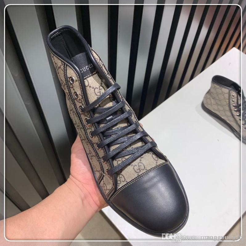 High Quality Men Sale Shoes Fast Lace-up Top Luxury Fashion Men Sneakers Flats Platforms Vintage Drop Ship Shoes Size 38-45
