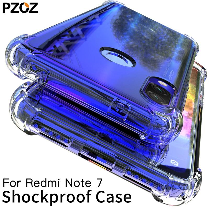 phone case For Xiaomi Redmi Case Cover Silicone Shockproof Redmi 7 Note 7 Pro Transparent Protective Xiomi mi 9t note7 K20 case