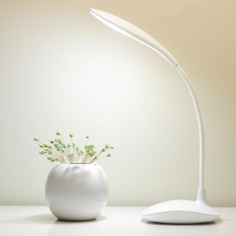 BRELONG 램프 화이트 1 개를 읽고 테이블 램프 디밍 바탕 화면 장식 램프 1200MAH 충전식 학생 주도