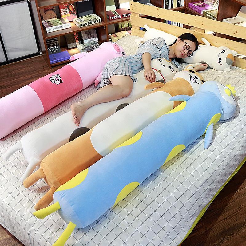 도매 수면 베개 긴 베개 인형 아름다운 게으른 플러시 장난감 베개 인형 인형 소녀 귀여운 개최