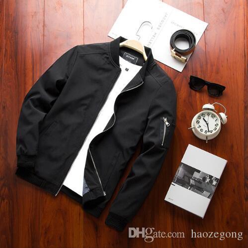 새로운 2019 재킷 남자 패션 캐주얼 루스 남성 재킷 Streetwear 폭격기 재킷 남성 재킷 뜨거운 남자 쿨 코트 플러스 크기 M- 4XL