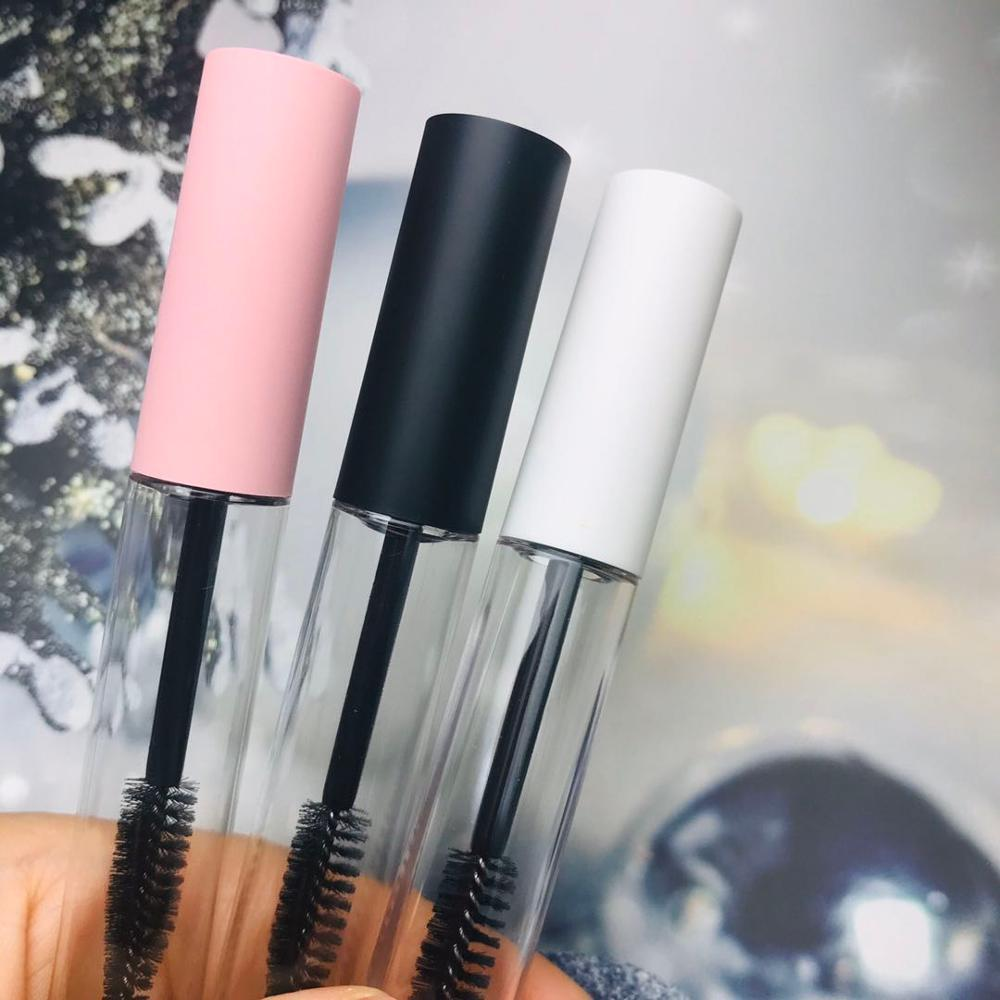 Nueva 10ml tubo de rímel claro vacío Pestañas RevitaLash Botella esmerilado blanco, contenedor de embalaje tapa rosada cosmética envío libre