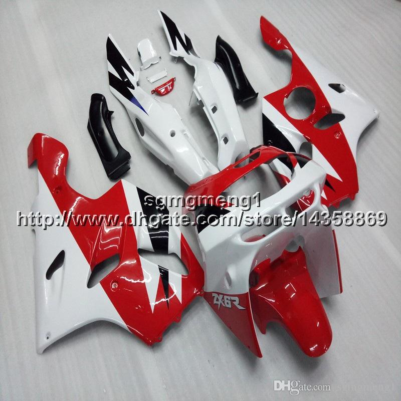 23colors+Botls red white motorcycle cowl For Kawasaki ZX-6R 1994 1995 1996 1997 ZX-6R 94 95 96 97 ABS Plastic Fairing