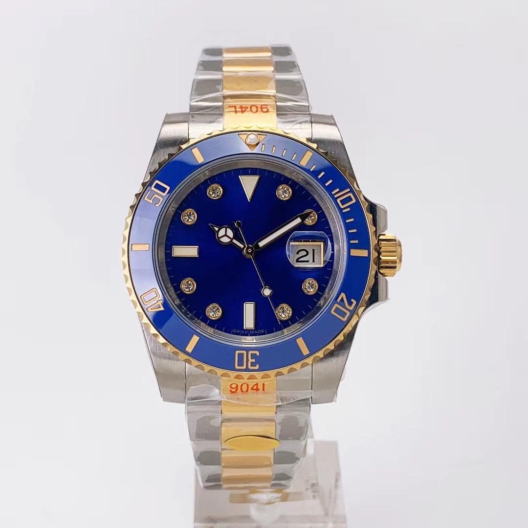 Orologio di Lusso marcar con incrustaciones de diamantes de 40 mm de diámetro del Mosa 904L 2836/3135 diseño del reloj automático movimiento mecánico