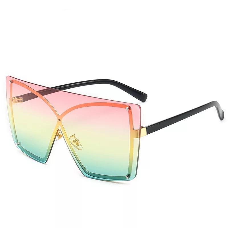 Großer Rahmen verbunden Sonnenbrillen Vintage Übergroßen Frauen Schatten Designer Sonnenbrille 8 Farben Großhandel