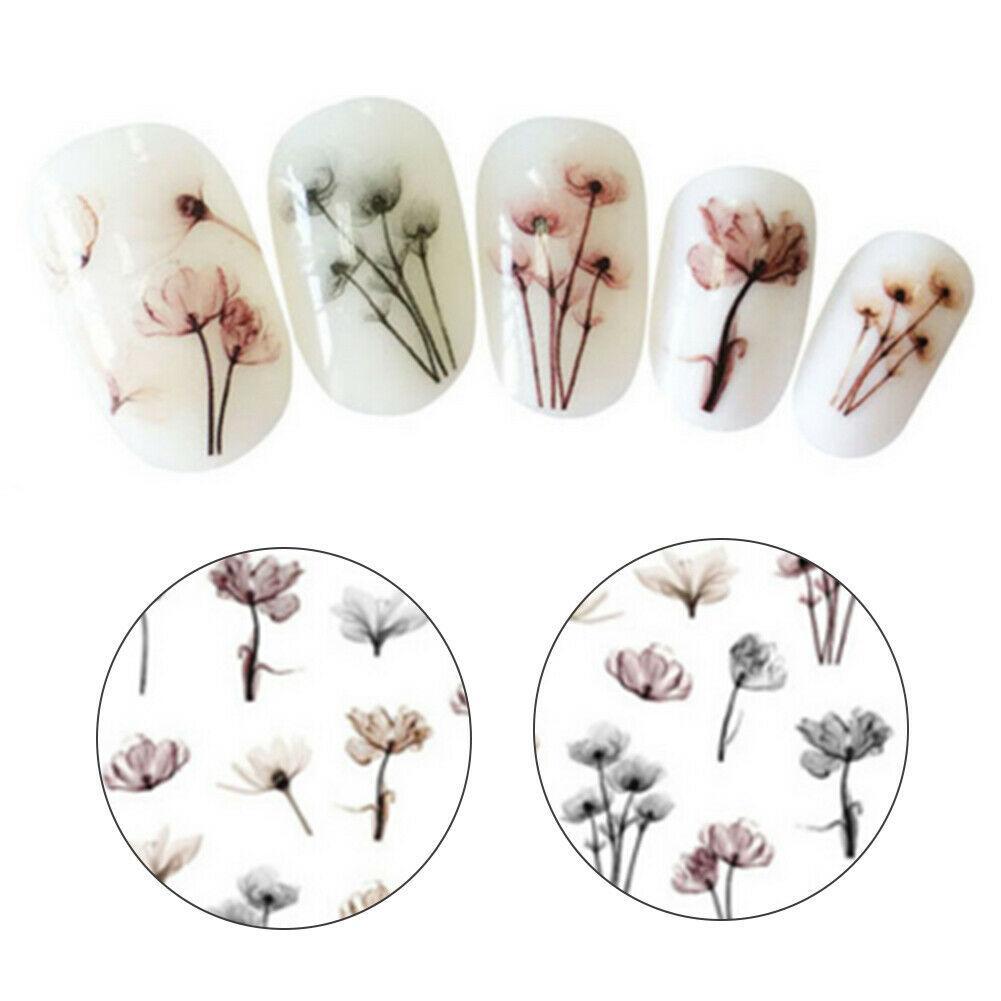Nail Art Sticker Trasferimento Blumen 3D Abziehbilder Manikü Dekoration Spitzen A987