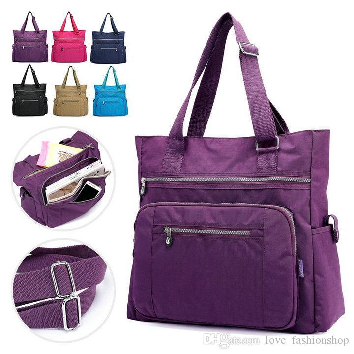 6 ألوان الموضة عارضة الأم حقائب حفاضات سعة كبيرة أكياس الأمومة حقيبة سفر حقيبة السيدات الكتف حقيبة الحفاض المعبئ