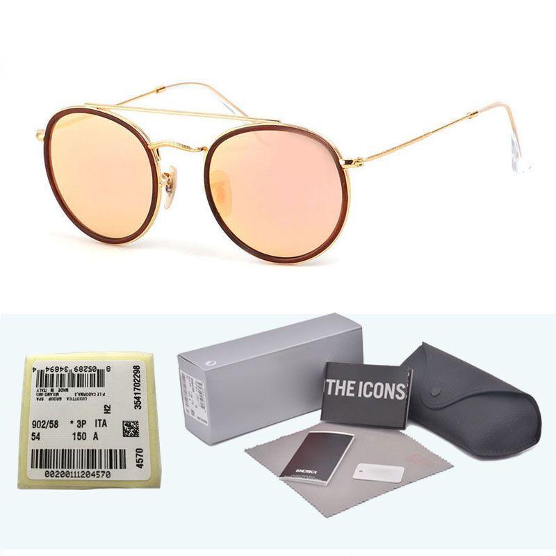 Sıcak Klasik cam lens güneş gözlüğü kadın erkek için metal çerçeve çift Köprü güneş gözlükleri Steampunk Gözlüğü Perakende ...