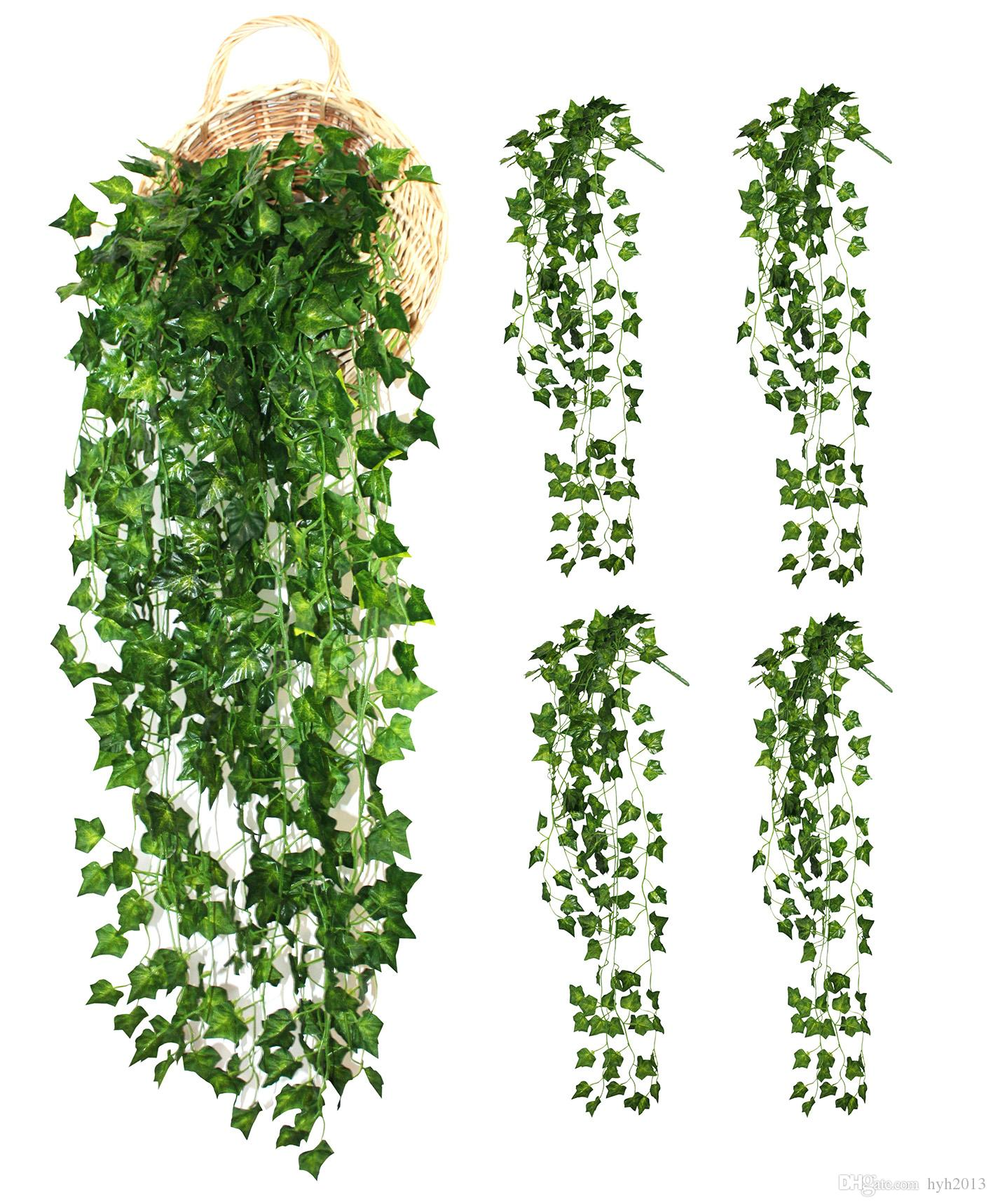 4 Bunchs Artificial vines Home Garden Wall Decoration Fake Hanging Plant Ivy Leaves Garland