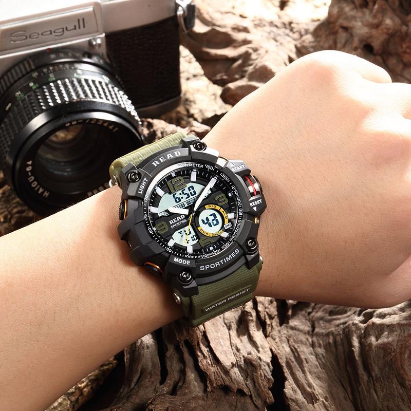 Relojes deportivos LEA 90001 relojes de pulsera electrónicos de reloj para los hombres 2019 Masculino Relogio relojes cronómetro correa de silicona