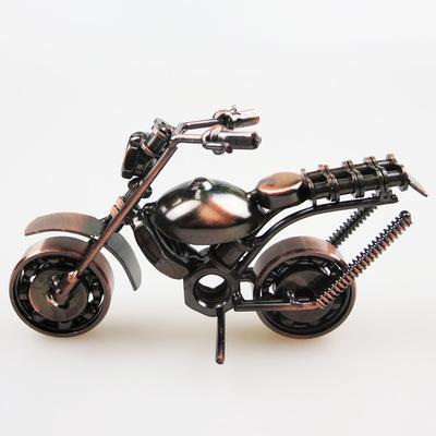 1 PCS الإبداعية هدية عيد ميلاد الحديد العجلات النارية نموذج مصنوعات معدنية على النمط الأوروبي الديكور ديكور مكتب ديكور المنزل A5