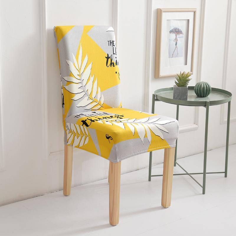 47 Spandex Stretch Dining Chair Covers Elastic Anti-dirty Kitchen Seat Case for Banquet Dining room Chair Slipcovers