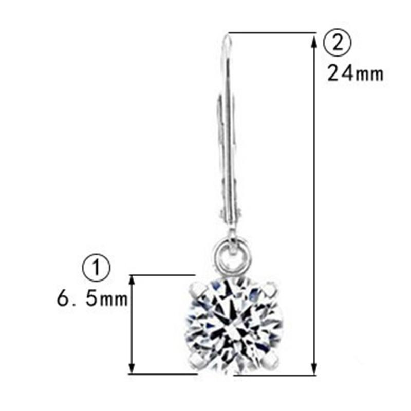 1ct / كل استرخى أقراط nscd الاصطناعية الماس الذكرى مجوهرات للنساء s925 الفضة المياه 4 شوكات أقراط
