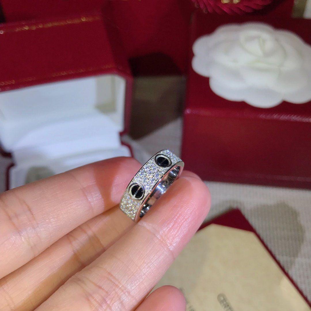 خواتم الزفاف النساء المجوهرات الاشتباك خاتم من الذهب مطلي الماس الأسود عصابة نساء حزب خاتم الزواج