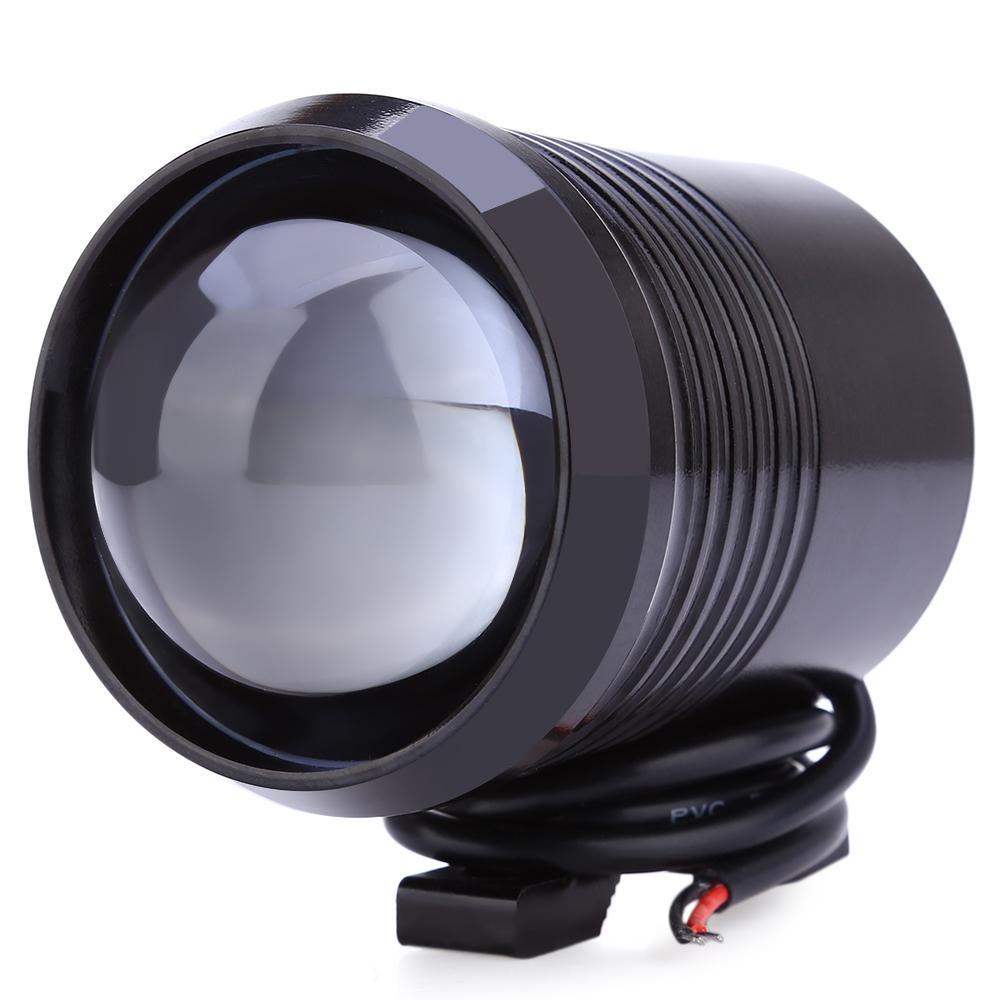 U2 Upper Low Flash Motorcycle Headlight LED Motorbike Fog Lamp Spot Light 1200LM 30W