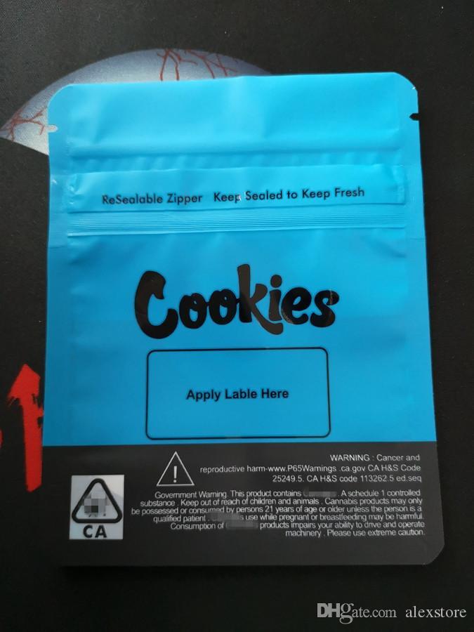 만 Vape 지퍼를위한 백 팩 포장 쿠키 카트 패키지 애 블루 가방 파우치 드라이 허브 아이 증명 DHL을 일어나