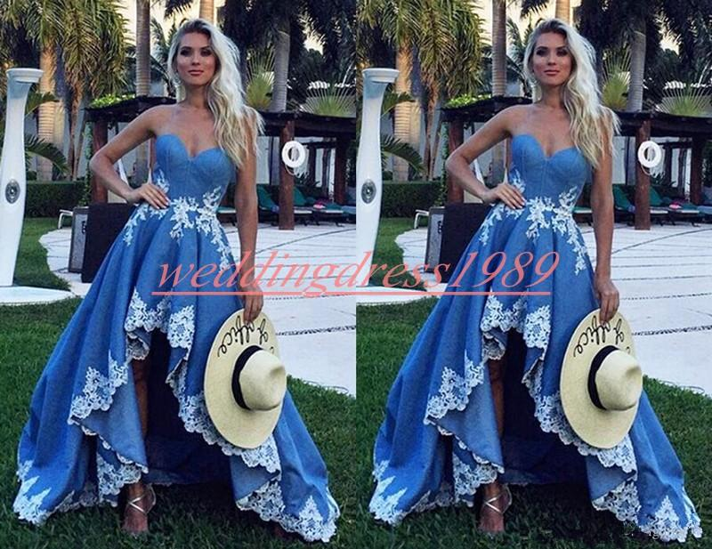 Beautiful High Low Sweetheart Prom Dresses Blue African Ball 2020 Robe De  Soiree Plus Size Juniors Black Girl Gowns Formal Evening Party Victorian ...