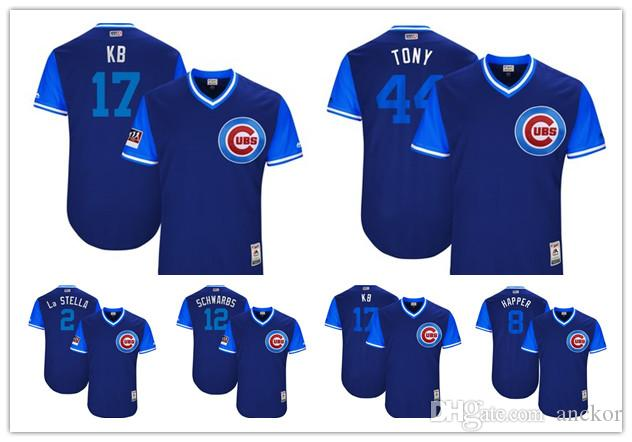hot sale online c6f1b e61c3 2019 Chicago 17 Kris Bryant KB Cubs Majestic 2018 Players Weekend Authentic  Baseball Jersey Royal/Light Blue From Anckor, $25.39 | DHgate.Com