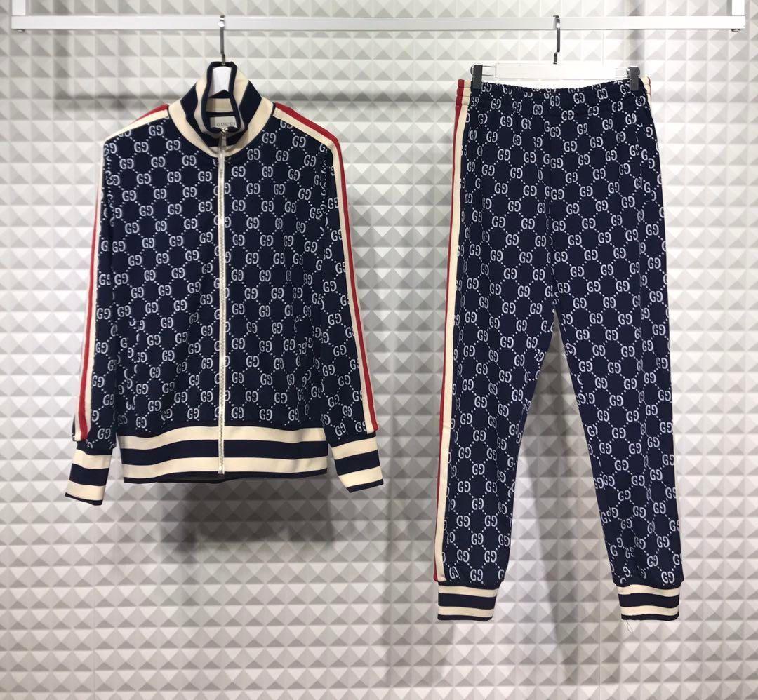 luxury designer brand best version Autumn men clothing fabric striped Tracksuits letter print zipper suit sweatshirt coat sweatsuit 3 color