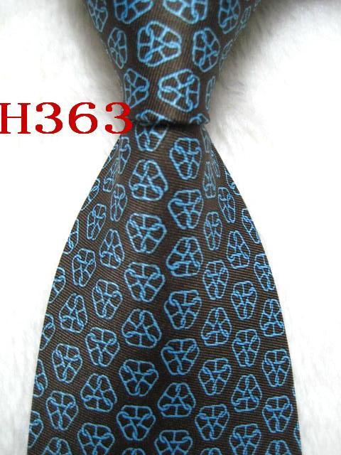 H363 # 100% Шелковый жаккардовый плетеный мужской галстук ручной работы