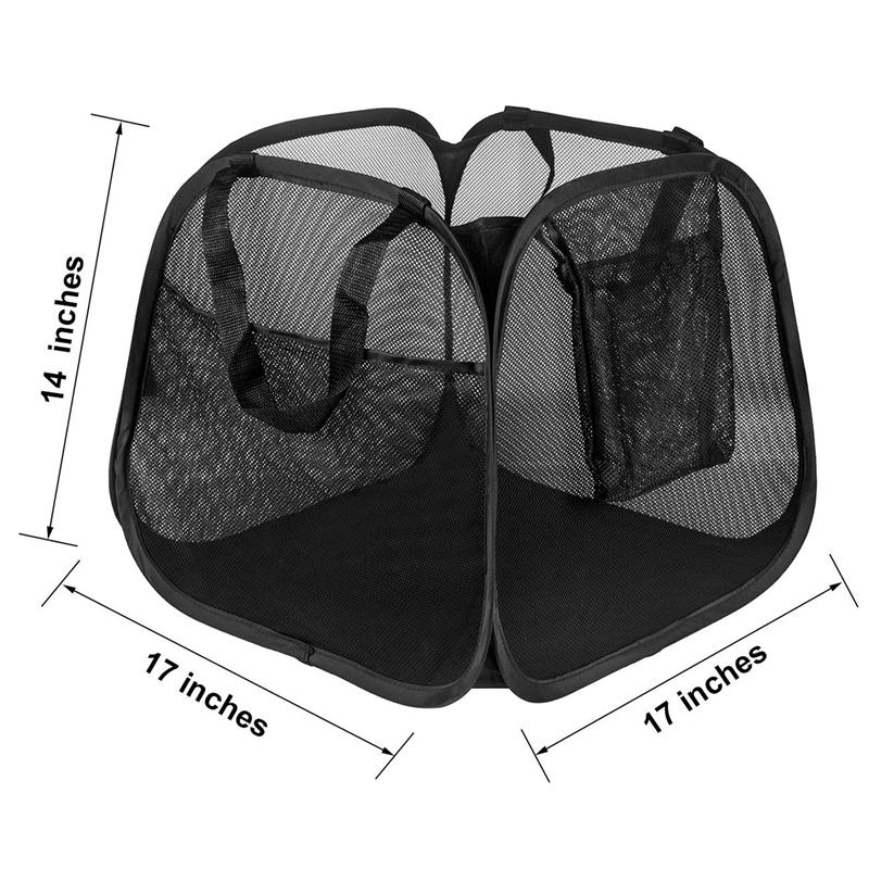 Powerful Mesh Pop-Up Laundry Basket, Solid Bottom High Carbon Steel Frame For Easy Opening And Folding Laundry Storage Organization